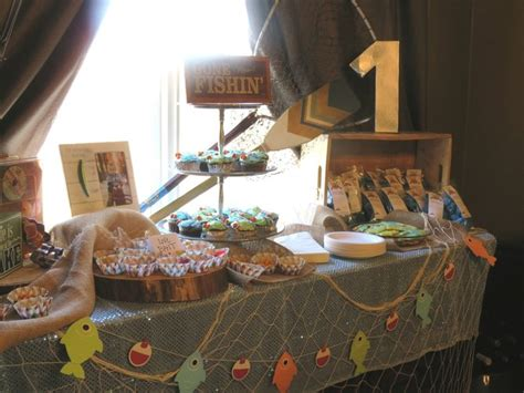 Kitchen Island Wood A Fishing Themed Birthday Party Quot The Big One Quot