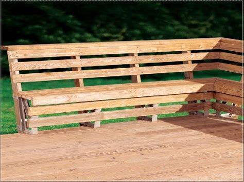 how to build a bench seat outdoor 17 best images about deck banc on pinterest outdoor