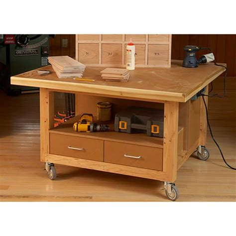 dead flat assembly table reliably rugged assembly table woodworking plan from wood