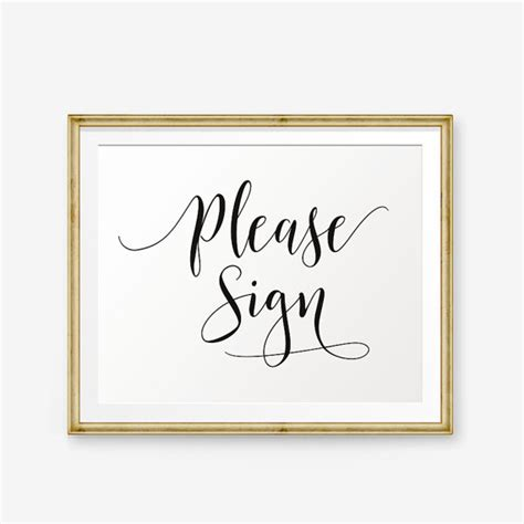 Sign In Book Wedding Wedding Sign Printable Wedding Guest Book Sign