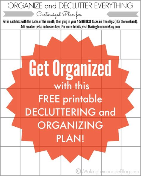 declutter house plan house decluttering plan 28 images get organized with the 30 day declutter