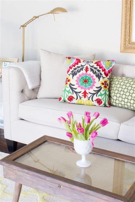 new living room sofa erin spain quot seasonal simplicity quot spring home tour erin spain
