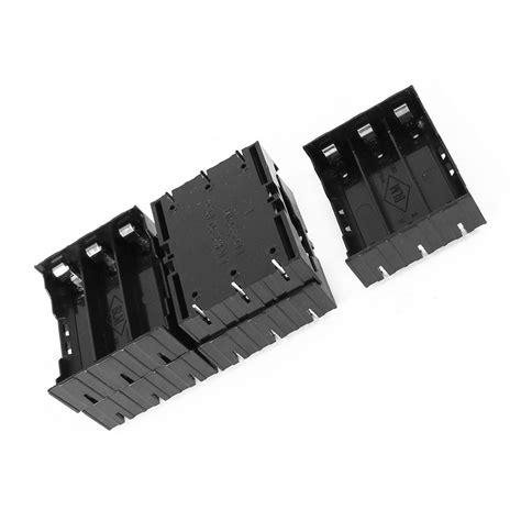 Battery Holder 3 7v 18650 5 pcs black plastic 3 x 3 7v 18650 batteries 6 pin battery