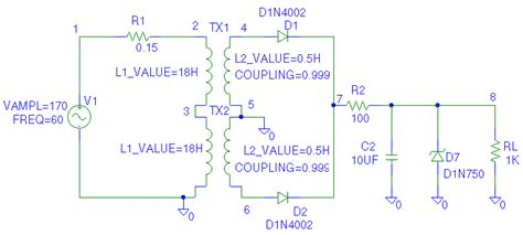 power diode in pspice pspice exles for ee 253