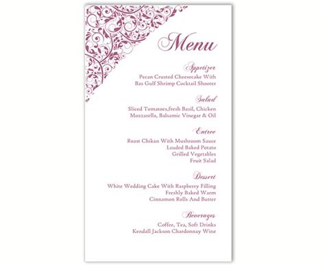 free menu template 21 free word pdf documents download free