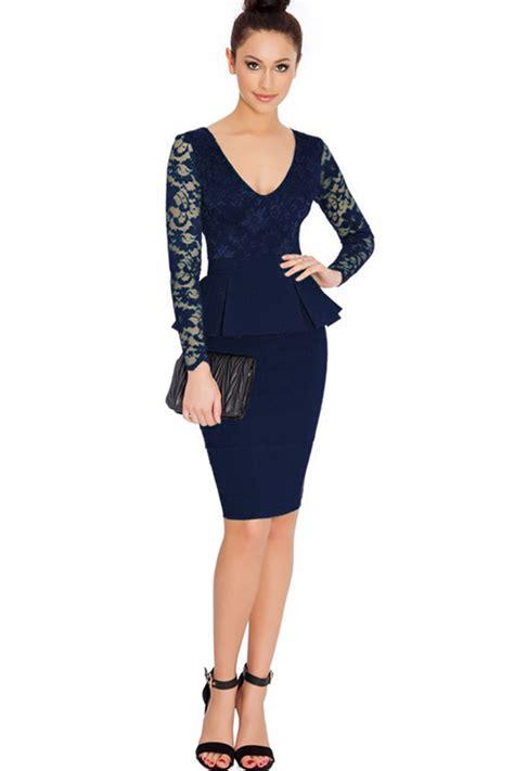 Sleeve Fit Dress kettymore peplum sleeves neck fit dress