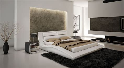 wave platform bed wave white queen size bed wave j m modern bedrooms beds at comfyco com furniture store