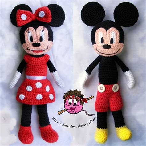 minnie mouse doll knitting pattern cochet mickey mouse and minnie mouse doll pattern from