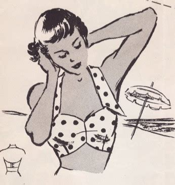 etsy bra pattern vintage sewing pattern ladies beach bra pdf 34 bust