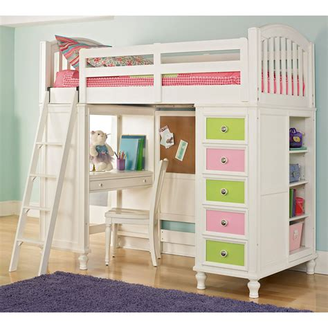 Bunk Bed With Study Table Furniture White Desk With Drawers And Shelves For House And Office Equipment Founded Project