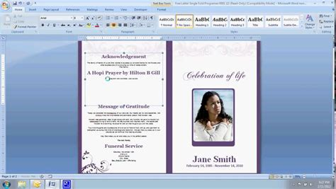 free sle funeral programs templates thememorybookshop crunchbase