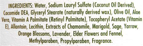 Handmade Soap Ingredients - soap ingredients label images