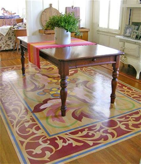 25 best ideas about painted floor cloths on
