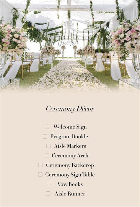 Wedding Checklist Hong Kong by Wedding Decorations Checklist Tire Driveeasy Co