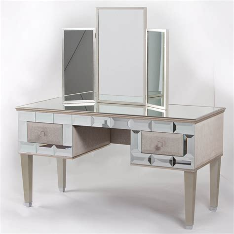 Mirrored Vanity Desk Home Furniture Design