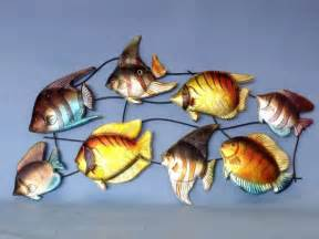 fish wall decorations buy metallic tropical fish wall decoration 43 inch nautical