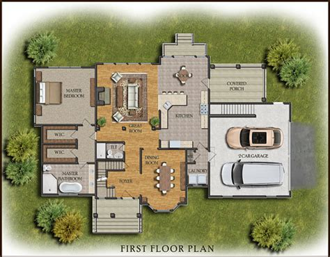 Colored Floor Plans by Multi Family Large House Floor Plans Colored Layout