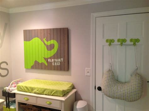 lime green nursery decor kellan s gray and lime green elephant nursery project