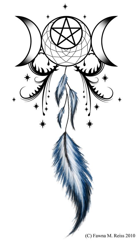 tribal dreamcatcher tattoos moon goddess moon goddess dreamcatcher by