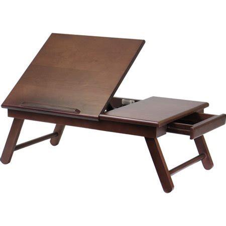 laptop desk walmart alden desk bed tray with drawer walnut walmart