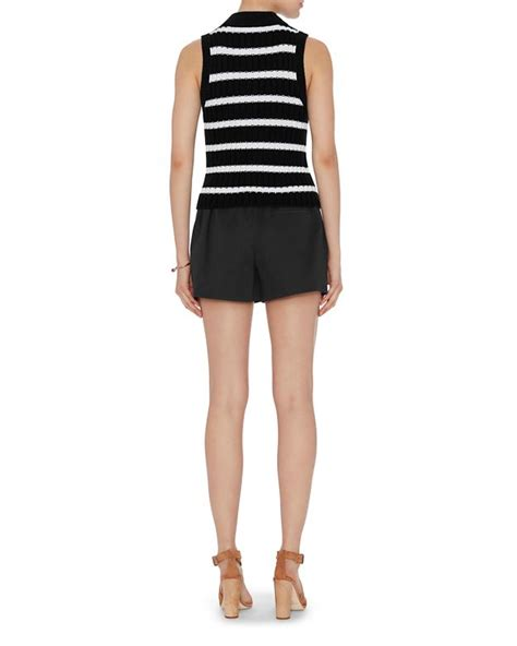 Foreign Label Stripe Knit Skirt In 2 Colors 1 lyst exclusive for intermix shiloh striped mock neck