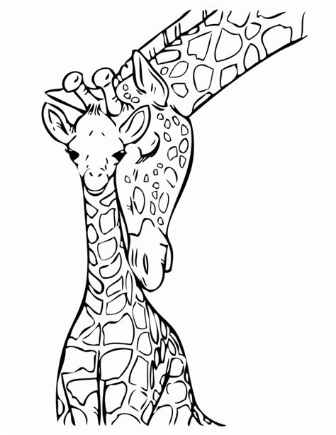 baby giraffe coloring page baby giraffe with mommy coloring page h m coloring pages