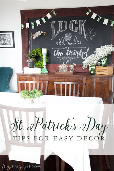 st patrick s day home decorations st patrick s day easy home decor frog prince paperie