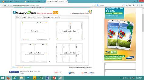 flash card maker cambridge web 2 0 tools for elt octubre 2014