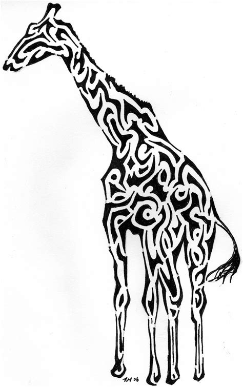 tribal pattern giraffe tribal giraffe i started making the shapes into shapes