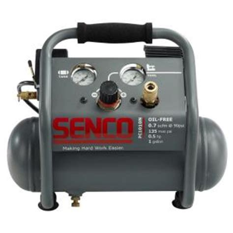 senco 1 gal 1 2 hp portable pancake electric air compressor pc1010n the home depot