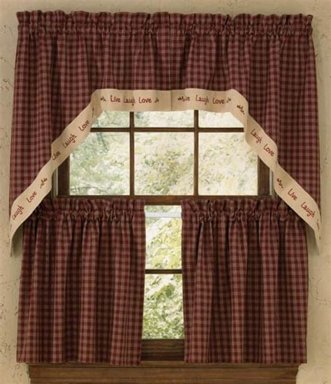 lined country curtains sturbridge live border lined window curtain swag