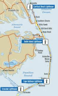 lighthouses in carolina map maps awesome and lighthouses on