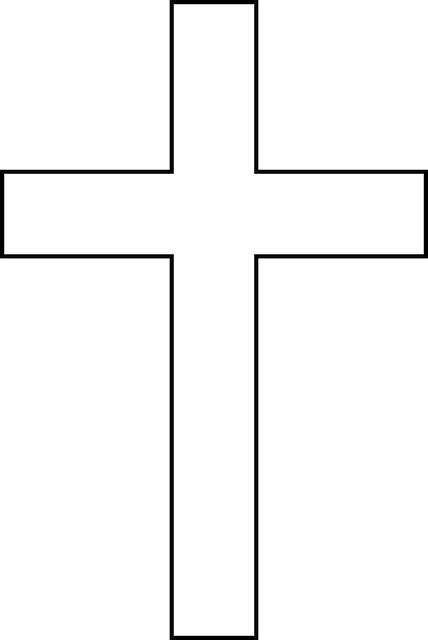 Cross Outline by The Gallery For Gt Simple Black Cross Designs