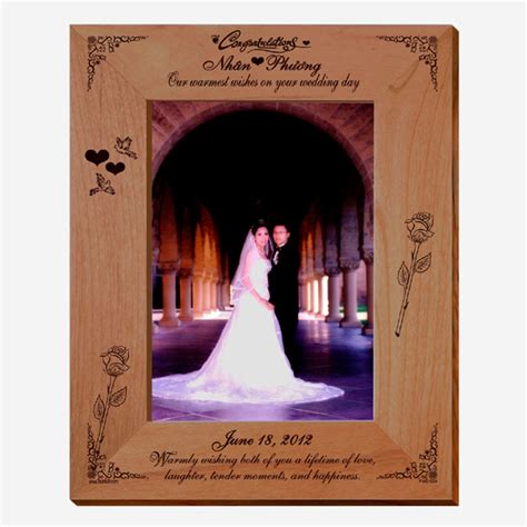 Wedding Wishes Photo Frame wedding wishes personalized photo frame picture frames