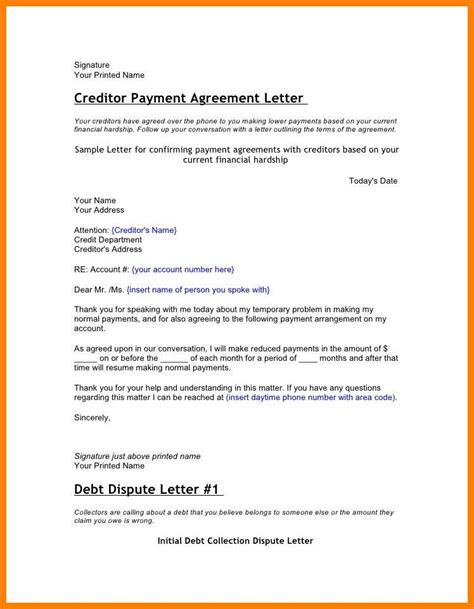 Hardship Letter Sle For Debt Settlement 6 hardship letter to creditors applicationleter