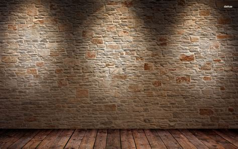 brick wall and wood floor hd wallpaper 1 abstract