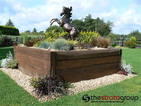 Railway Sleepers Belfast by The Strata Landscape Suppliers Cookstown