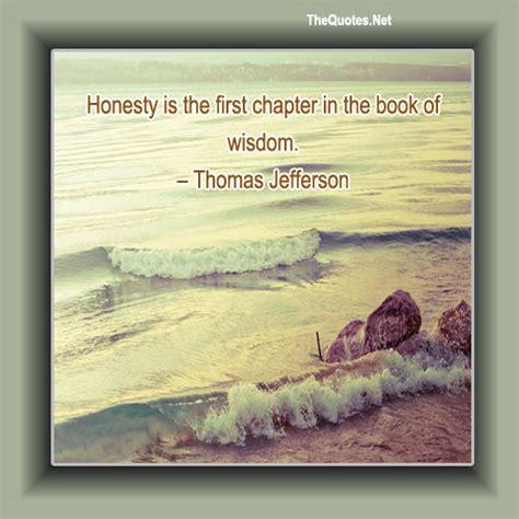 book themes about knowledge honesty is the first chapter in the book thomas