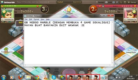 tutorial hack modoo marble dual login modoo marble dengan sandbox tutorial