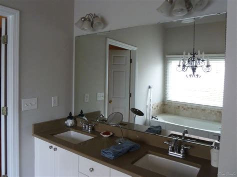 how to frame a large bathroom mirror diy framed mirror using standard moldings frame bathroom