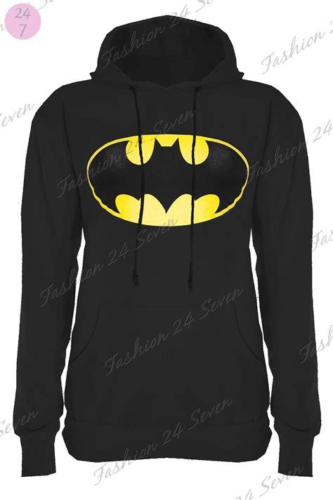 Hoodie Sweater Batman V Superman 2 1 womens cap sleeves superman batman t shirt sweatshirt hoodies tops ebay