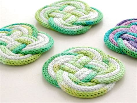 how to knit a coaster knitted knotted coasters my poppet makes