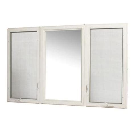 tafco windows white vinyl casement window with screen