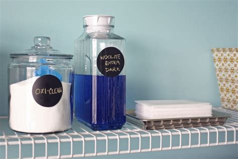 Laundry Room Detergent Storage Pretty Glass Laundry Room Storage Teal And Lime By Jackie Hernandez