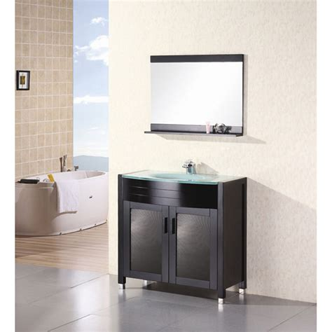 design element waterfall 36quot bathroom vanity espresso