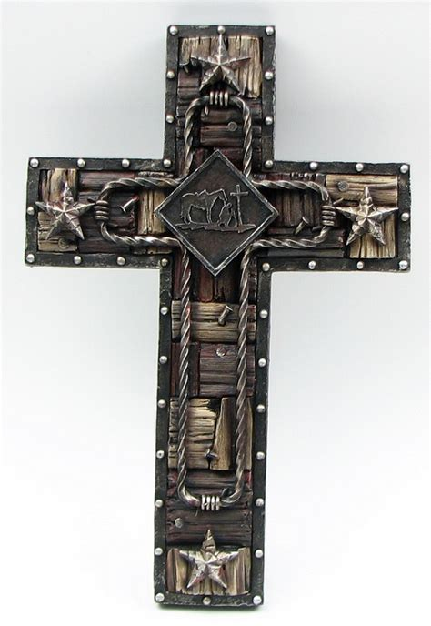 western resin wall cross rustic cabin lodge religious