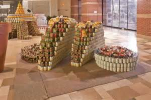 How To Build A Canned Food Sculpture by Can Sculptures Highlight World Hunger Pics Psfk