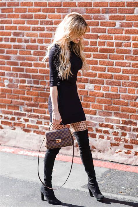 black dress fishnet tights