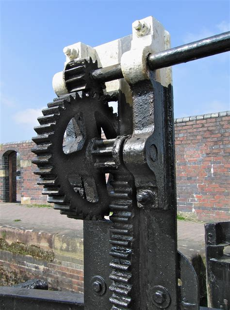 Exles Of Rack And Pinion by File Lock Gate Cogs Montgomery Canal Geograph Org Uk