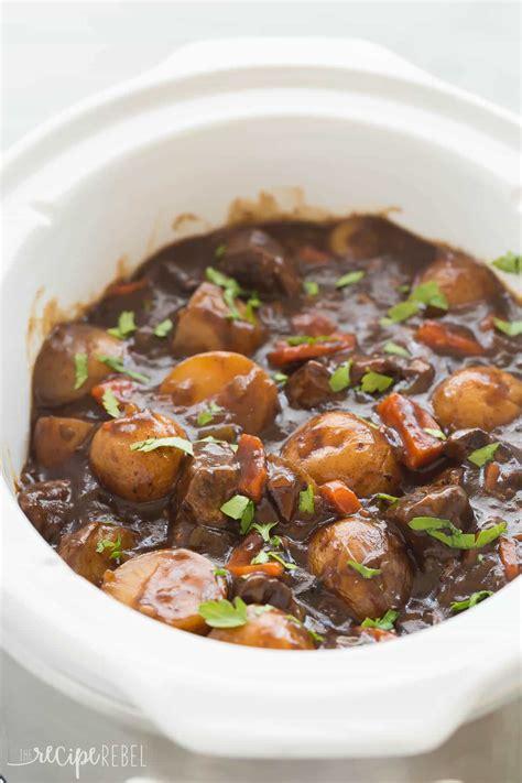 beef stew recoipe honey balsamic slow cooker beef stew video